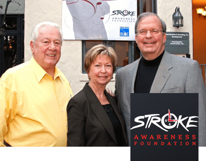 Stroke Awareness Foundation Logo and Founders