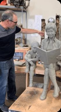 Sculpture of Pat Dando