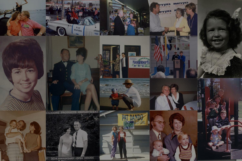 Pat Dando life collage