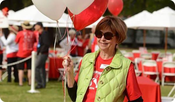 Pat Dando with Balloons