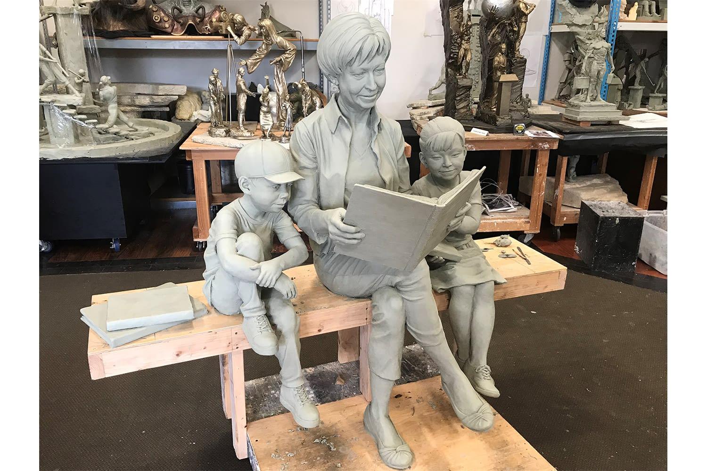 Pat Dando Clay Model