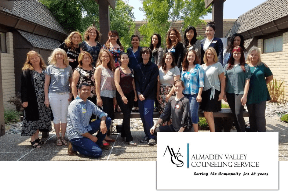 Almaden Valley Counseling Service Team and Logo